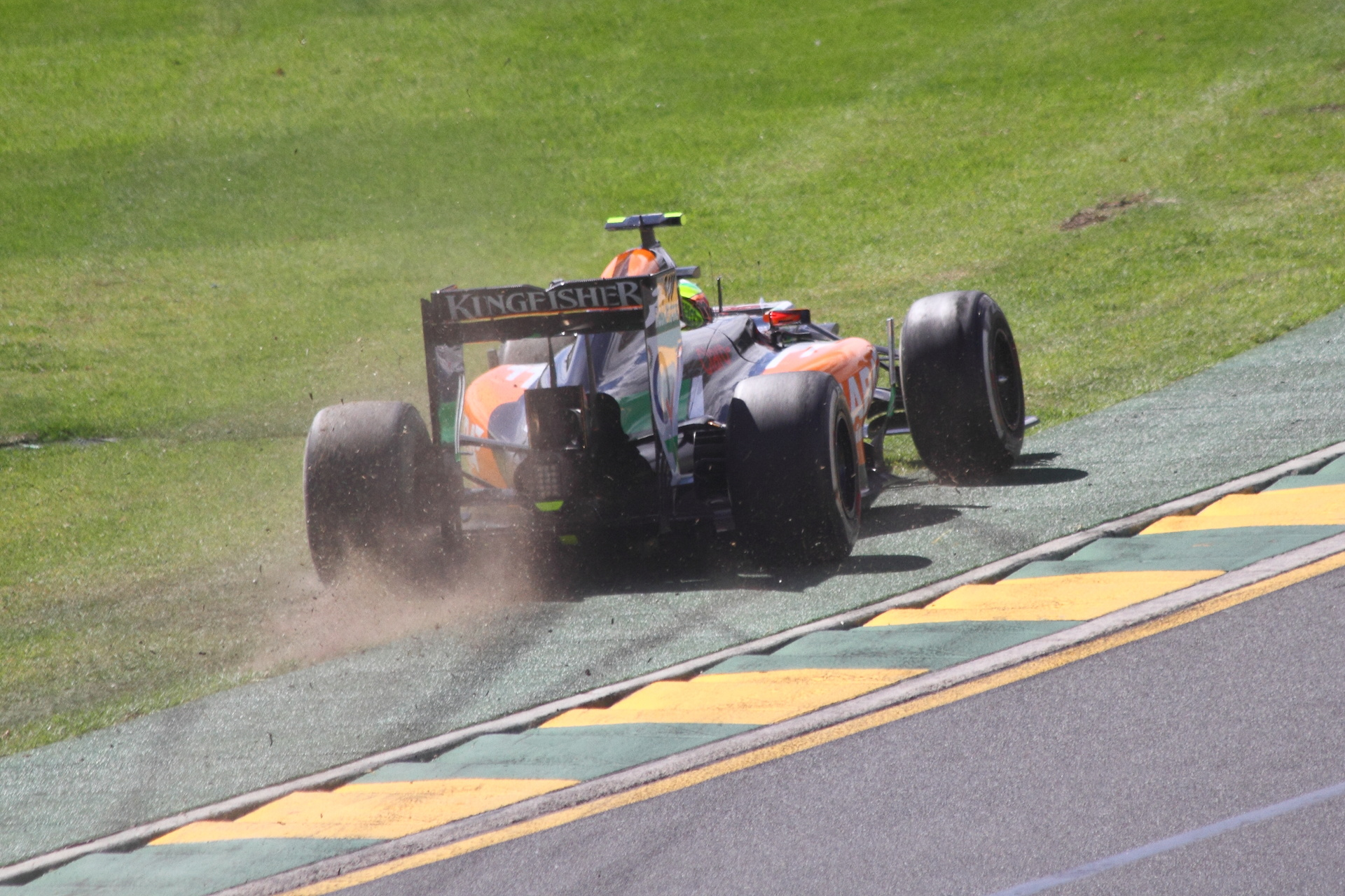 Perez on the grass
